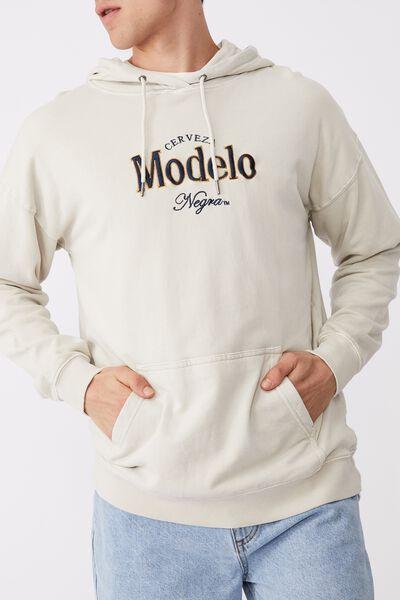 Modelo Fleece Pullover, LCN MOD ECRU/MODELO NEGRA LOGO