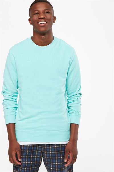 Summer Crew Fleece, ARUBA BLUE
