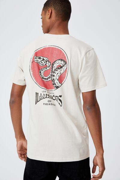 Tbar Moto T-Shirt, BONE/ILLUSIONS