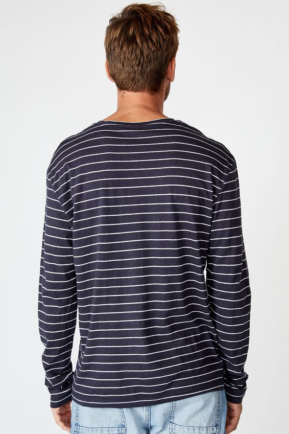 Tbar Premium Ls, TRUE NAVY/WHITE/EASY STRIPE