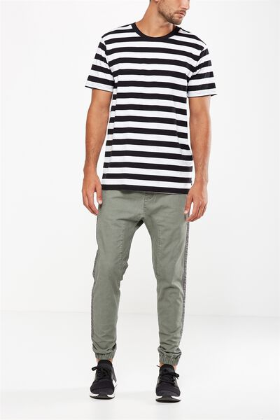 Drake Cuffed Pant, KHAKI SIDE STRIPE