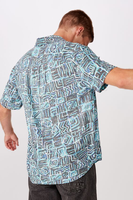 91 Short Sleeve Shirt, STATIC TRIBAL