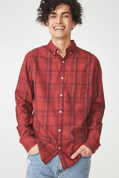 Brunswick Shirt 3, RED WINDOW CHECK