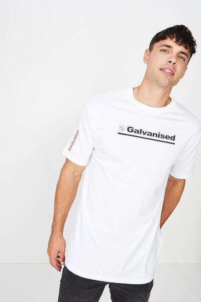Drop Shoulder Longline, WHITE/GALVANISED
