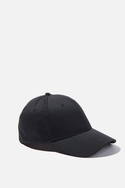 Stretch Fit Active Cap, BLACK