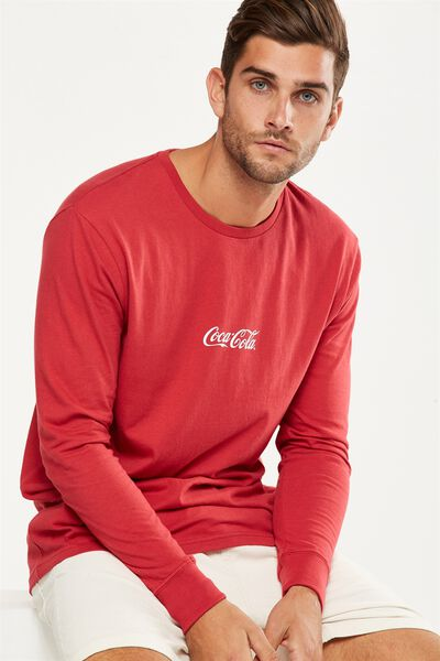 Tbar Collaboration Ls Tee, LC RACE RED/COCA COLA