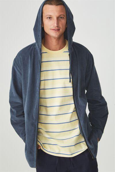Zip Hood Shirt, DENIM BLUE