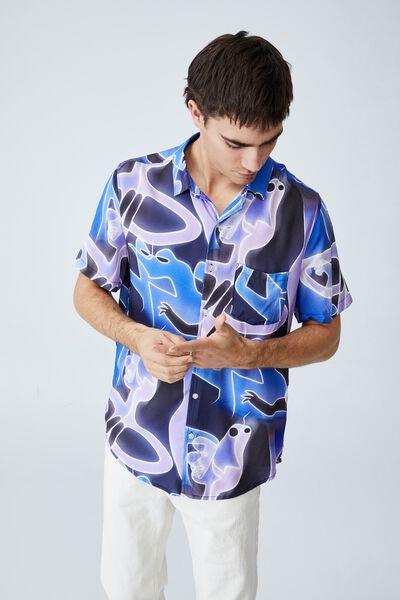 Collab Short Sleeve Shirt, LCN DIS PURPLE - SOUL
