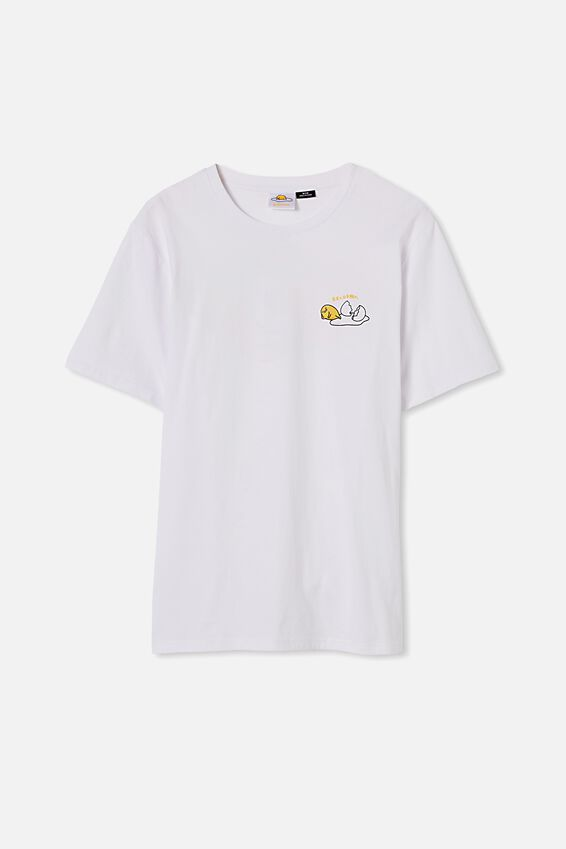 Tbar Collab Character T-Shirt, LCN SAN WHITE/GUDETAMA - LOUNGE