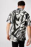 Short Sleeve Resort Shirt, BLACK OVERSKETCH FLORAL