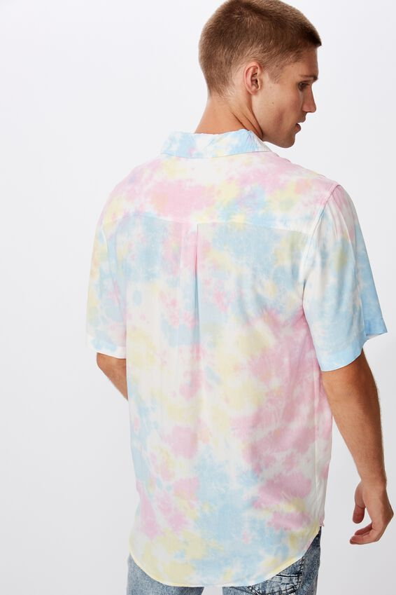 91 Short Sleeve Shirt, MULTI SPACED TYEDYE