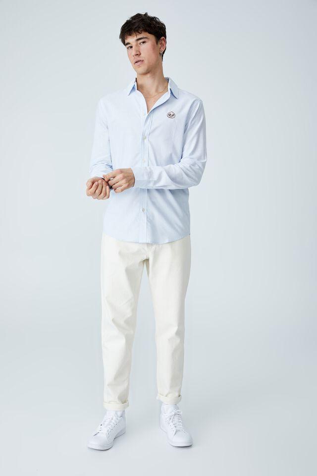 Kakao Long Sleeve Shirt, LCN KAK BLUE PINSTRIPE
