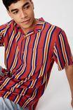Festival Shirt, RED MULTI STRIPE