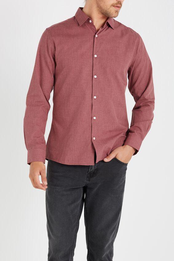 Slim Smart Shirt, RED MARLE