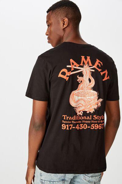 Tbar Art T-Shirt, BLACK/TRADITIONAL RAMEN