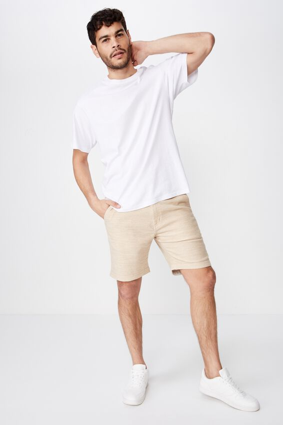 Tailored Casual Short, STONE TEXTURE