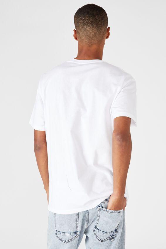 Tbar Collab Movie And Tv T-Shirt, LCN UNI WHITE/JURASSIC PARK-RETRO VHS