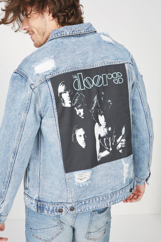 The Doors Denim Jacket, THE DOORS/BLUE