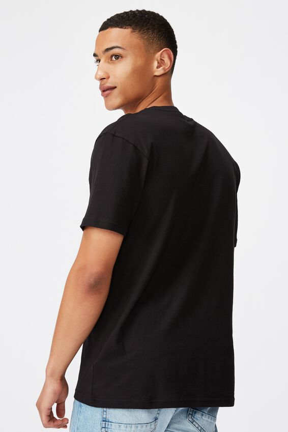 Tbar Text T-Shirt, BLACK/5 BOROUGHS CHEST