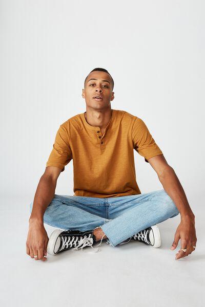 Slub Henley T-Shirt, INK NAVY