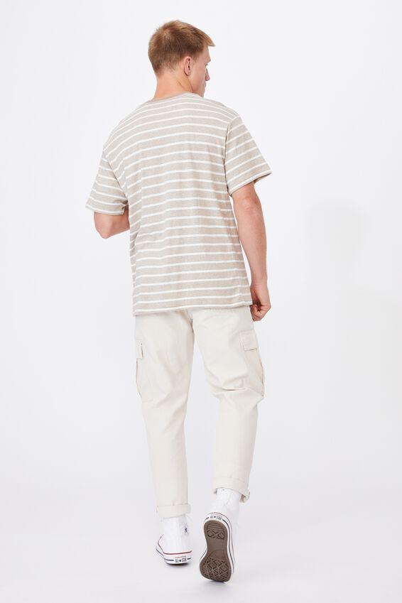 Graduate T-Shirt, WIDE GRAVEL STRIPE