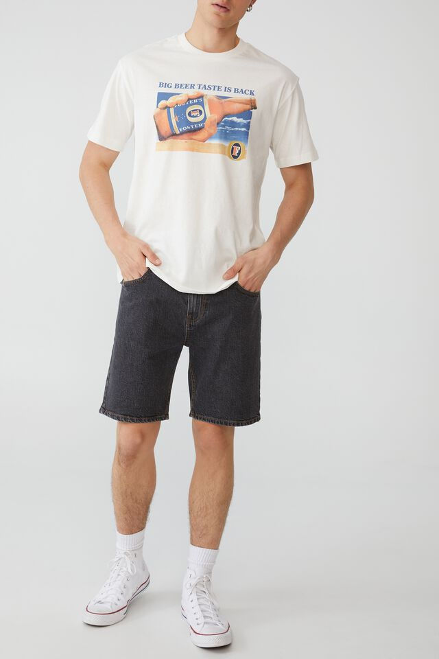 Fosters T-Shirt, LCN FOS VINTAGE WHITE/FOSTERS - BIG BEER TAST
