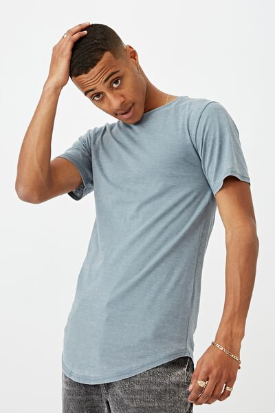 Longline Scoop Burnout Tee, CITADEL
