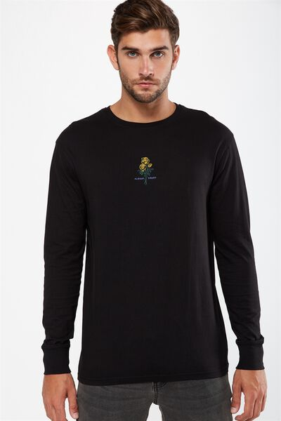 Tbar Long Sleeve, BLACK/ALWAYS FRESH