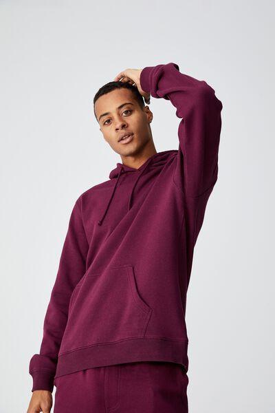 Essential Fleece Pullover, PORT WINE