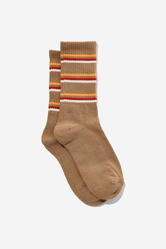 Essential Active Sock, RIVERSTONE/RED/GOLD STRIPE