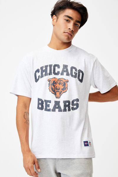 Active Collab Oversized T-Shirt, LCN NFL WHITE MARLE/NFL - CHICAGO BEARS VINTA