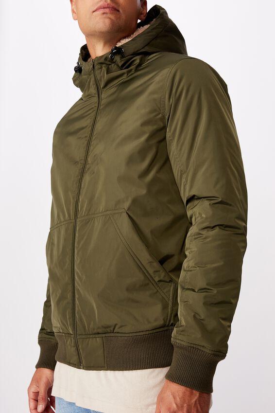 Ma1 Hooded Bomber Jacket, NEW KHAKI