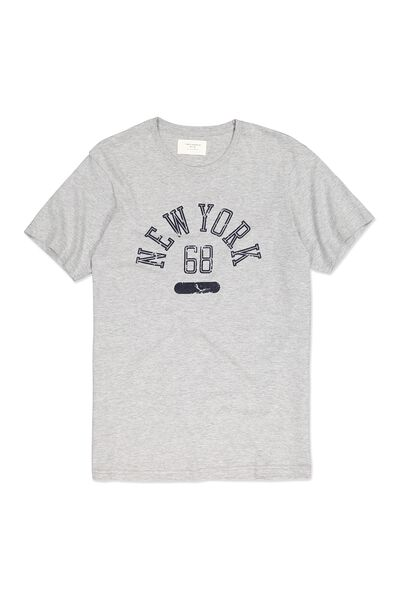 Tbar Tee, GREY MARLE/NEW YORK 68