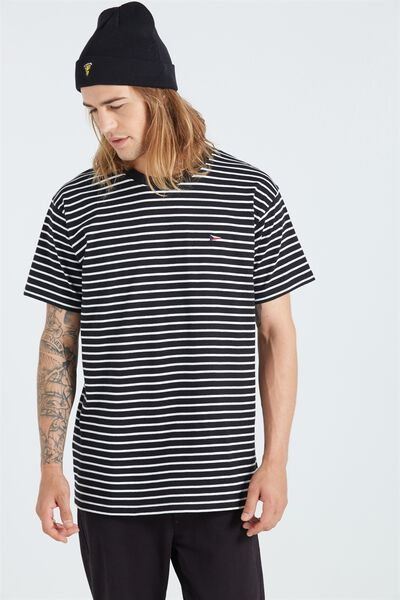 Dylan Tee, BLACK/ WHITE STRIPE/ BRONX FLAG