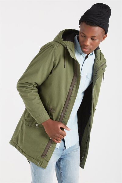 Mash Up Surplus Jacket, FOREST