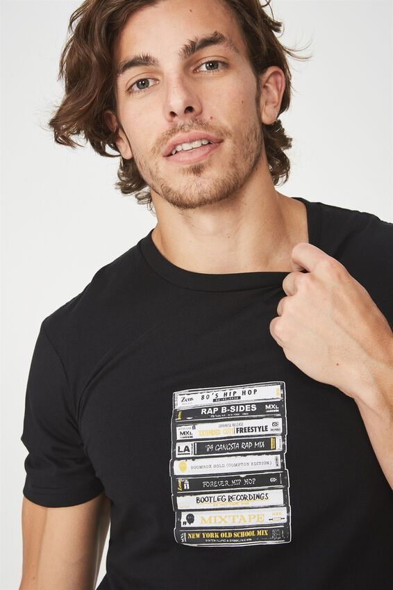 Tbar Tee 2, BLACK/TAPES