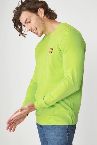 Tbar Collaboration Ls Tee, LC FLUORO GREEN/CLETUS
