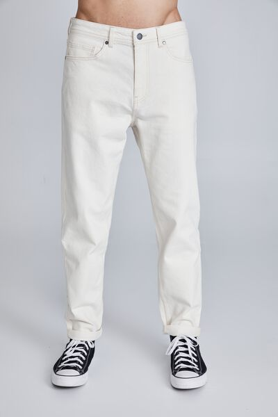 Relaxed Tapered Jean, NATURAL