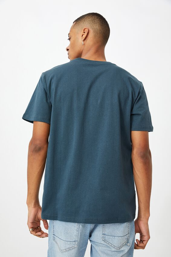 Tbar Text T-Shirt, OCEAN TEAL/STRESS LESS