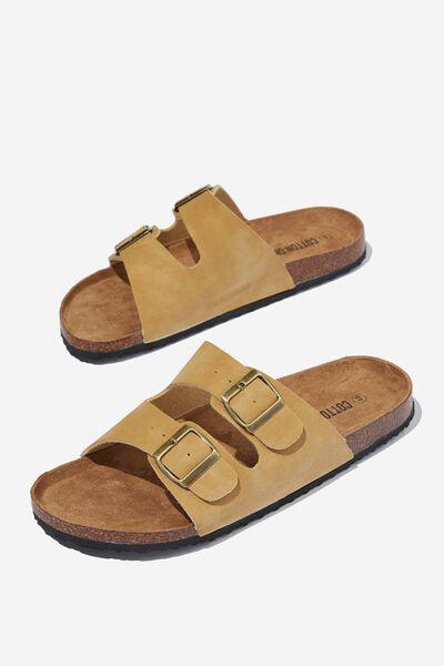 Double Buckle Sandal, SAND/TEXTURE