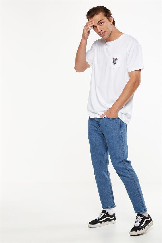 Slim Fit Jean, MOTTLE BLUE CROP
