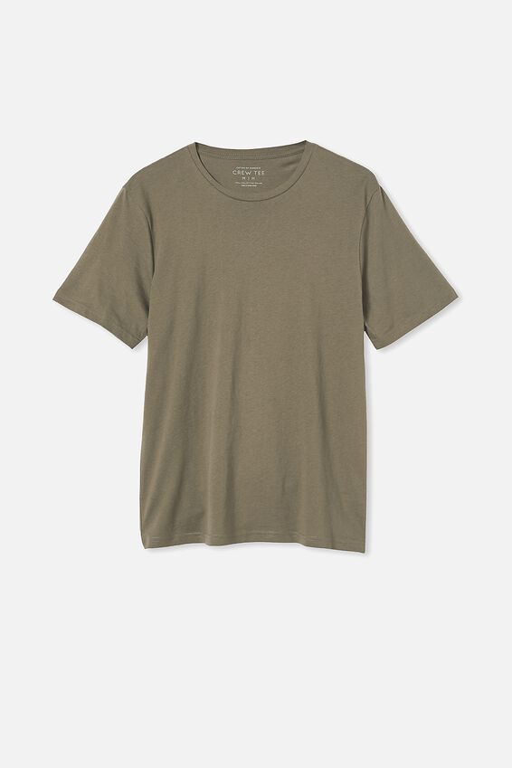 Essential Crew T-Shirt, MILITARY