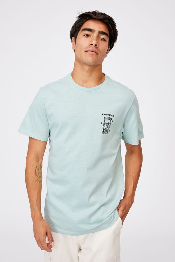 Tbar Art T-Shirt, MIST BLUE/HAPPY HOUR