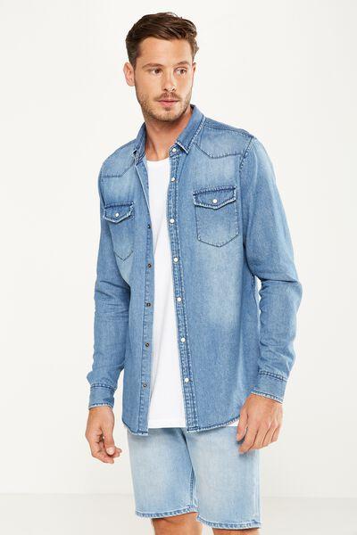 91 Shirt, WORN BLUE WESTERN