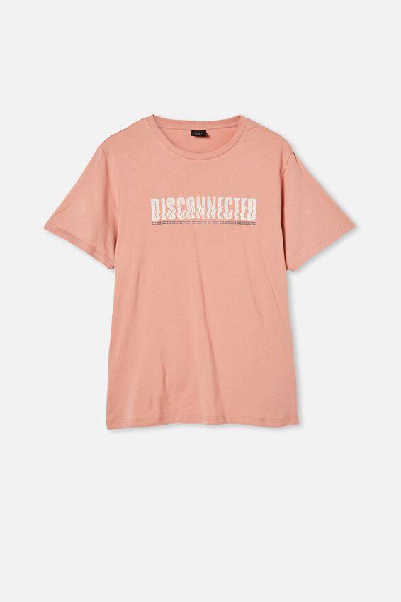 Tbar Art T-Shirt, PEACH/DISCONNECTED