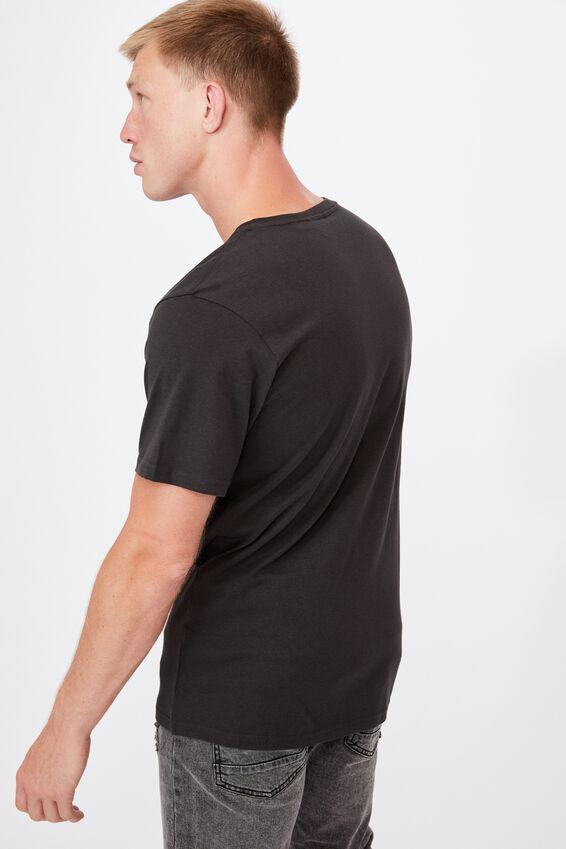 Tbar Collab Music T-Shirt, LCN ARA WASHED BLACK/LED ZEPPELIN-IV