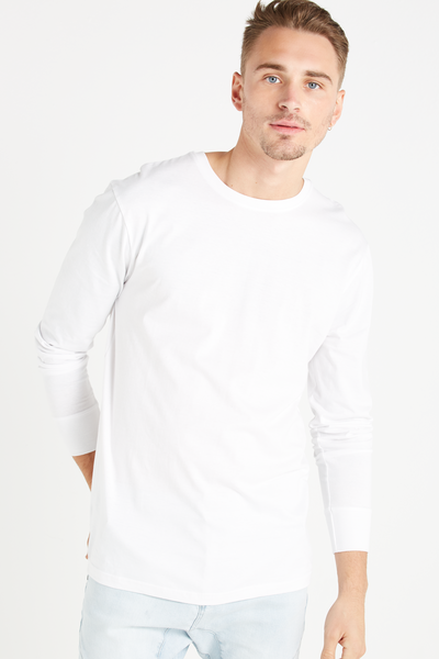 Tbar Long Sleeve, WHITE
