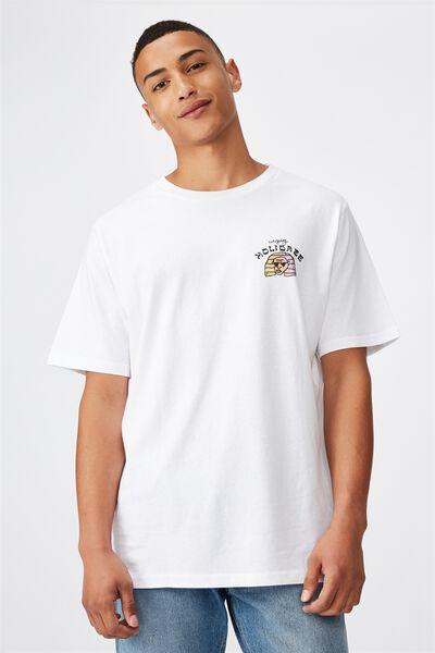 Tbar Art T-Shirt, SK8 WHITE/EVERYDAY HOLIDAZE