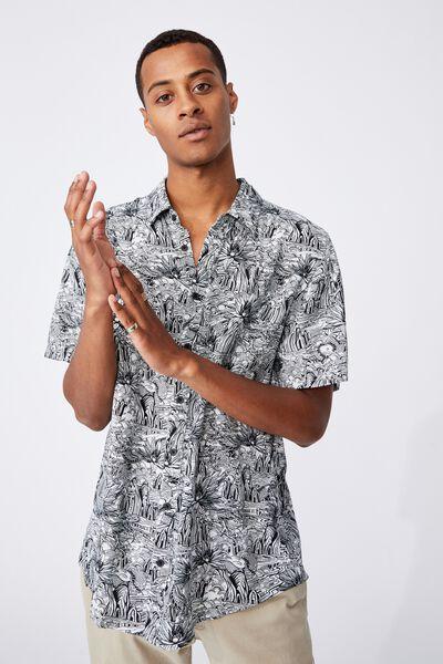 Short Sleeve Resort Shirt, SCENIC GARDEN