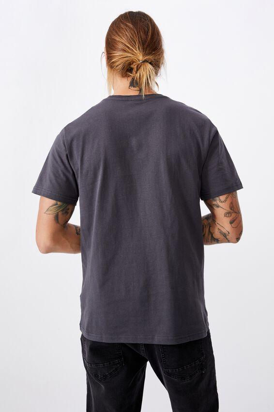 Tbar Text T-Shirt, FADED SLATE/STRESS LESS